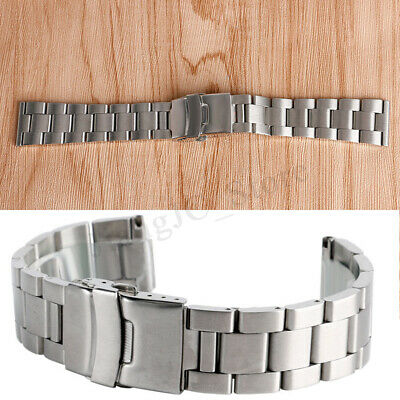 AU Stainless Steel Watch Band 24/22/20mm Adjust Straps Bracelet Metal Watchband