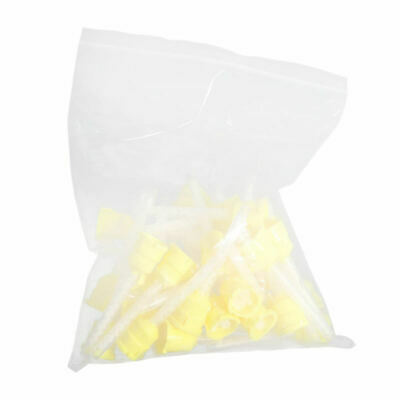 100x Dental Silicone Impression Material Mixing Tips Yellow Color Disposable vgh