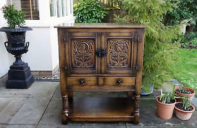 Titchmarsh Goodwin Credence Cupboard Wine cabinet Sideboard Hall Table Solid Oak