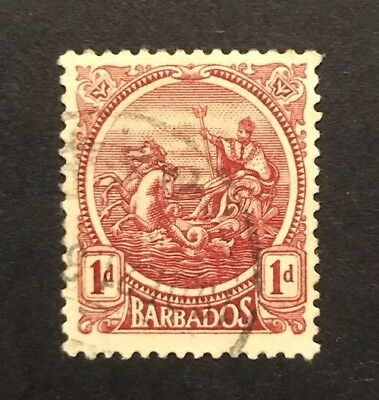 Barbados 1921 1d Red Badge Of Colony Used. SG 220