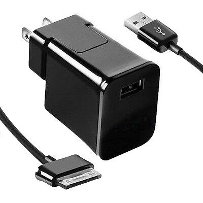 USB Wall Charger + Cable For Samsung Galaxy Tab 2 7.0 7.7 8.9 10.1 Note Tablet