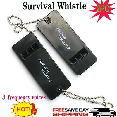 2Pc Survival Whistle Plastic Super Loud Emergency Whistle for Hiking