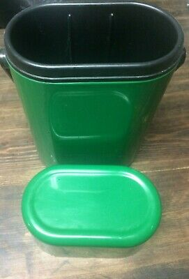 Vintage 2 Bottle DECOR Wine Champagne Cooler Insulated Carrier 545 MOMA Green
