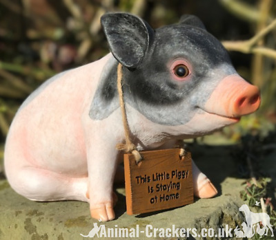 Little Piggy Staying at Home indoor outdoor ornament decoration pig lover gift