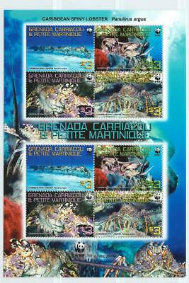 PETITE MARTINIQUE -2009 'CARIBBEAN SPINY LOBSTER' Mini Sheet [WWF436] MNH [6383]