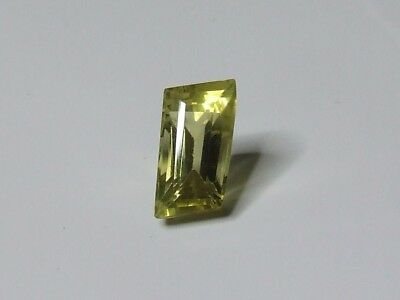 Yellow quartz free-form shaped gemstone..6.38 Carat