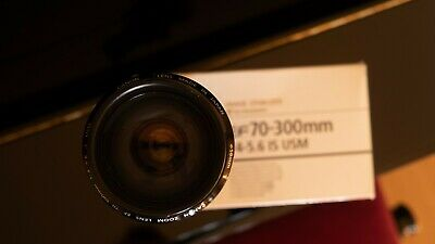 Canon EF 70-300mm F/4-5.6 IS USM Lens Good Condition with Original box