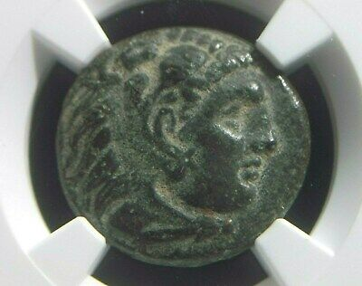 Greek coin of Alexander III The Great 336-323 BC, Lifetime issue, NGC Ch VF 5005