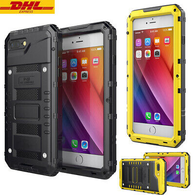 IP68 Waterproof Metal Case Cover Heavy Duty for iPhone 6s Plus 7 8Plus XR XS MAX