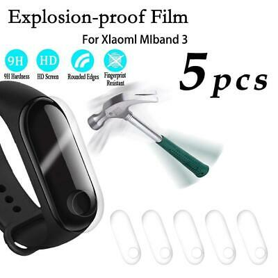 For Xiaomi Mi Band 3 Explosion-proof Full cover Clear Screen Protector Film 5PCS