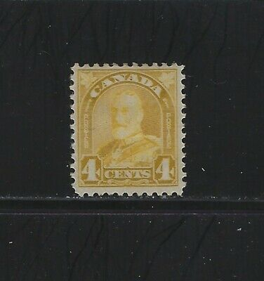 CANADA - #168 - 4c KING GEORGE V ARCH/LEAF ISSUE MINT STAMP (1930) MH