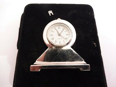 Found Unused Still Packed Miniature Quartz Design   Mantle Clock.# Working