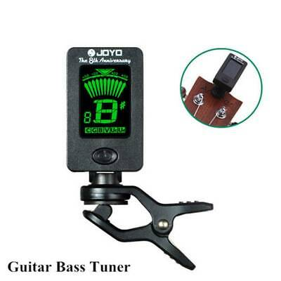 1X LCD Clip on Electronic Digital Guitar Tuner For Chromatic Bass Ukulele Violin