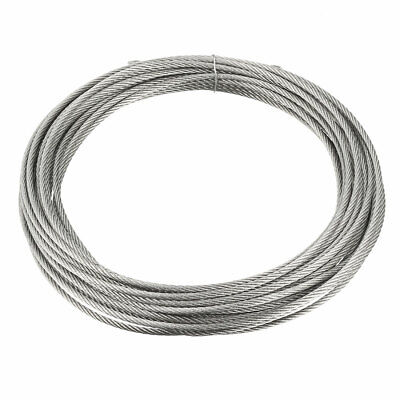 Stainless Steel Wire Rope Cable 2mmx7.5m 14 Gauge 304 Hoist Grinder Pulley