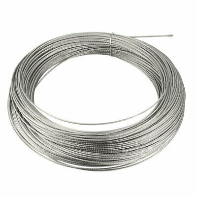 Stainless Steel Wire Rope Cable 1.3mmx58m 17 Gauge 304 Hoist Grinder Pulley
