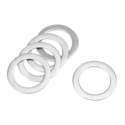 5Pcs 19mm x 26mm x 0.8mm 304 Stainless Steel Flat Washer for Screw Bolt