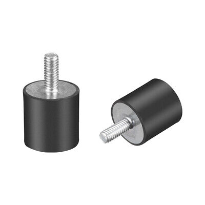 """M4 Rubber Vibration and Shock Absorption Mount w Thread Stud, 0.59"""" x 0.59"""",2pcs"""