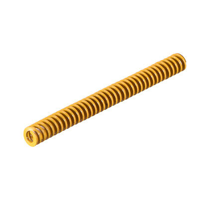 6mm OD 60mm Long Spiral Stamping Light Load Compression Mould Die Spring Yellow