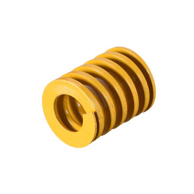 18mm OD 21mm Long Spiral Stamping Light Load Compression Mould Die Spring Yellow