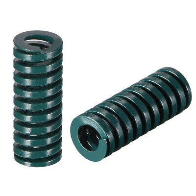 12x30mm Long Spiral Stamping Heavy Load Compression Mould Die Spring Green 10pcs