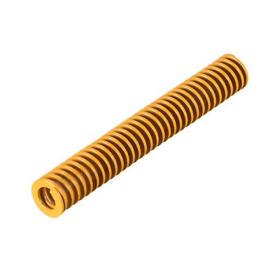 10mm OD 80mm Long Spiral Stamping Light Load Compression Mould Die Spring Yellow