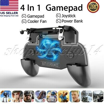 Mobile Phone Game PUBG Controller Joystick Cooling Fan Gamepad for Android IOS