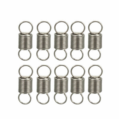 0.5x5x15mm Stainless Steel Small Dual Hook Tension Spring 10pcs