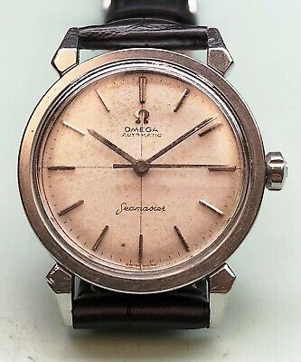 Omega Seamaster Vintage Cal.501 Fancy Claw Lugs W/ Big Logo Case Back Mens Watch