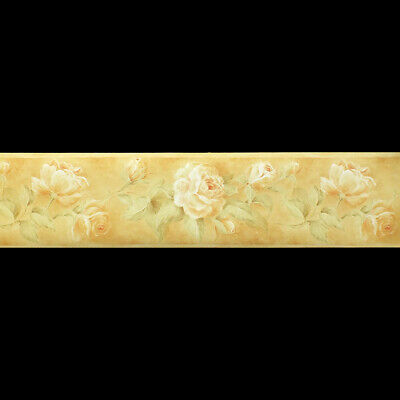 Slightly Textured,Small Flower Design Wallpaper Border 17.4cm wide x 4.57m long