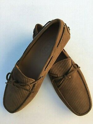 0e908b7719b NEW TOD S MENS Brown Shoes Loafers Drivers Size 10 Suede Slip Ons ...