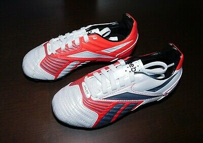 52377123ee5 REEBOK YOUTH SOCCER Cleats VALDE White Red Gray NEW size 12.5 ...