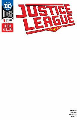 Justice League #1 Blank Variant - Dc Comics 2018 - Nm - Deep Discount
