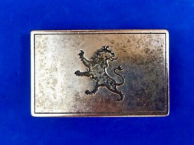 Vintage? Family crest? fighting lion? emblem belt buckle