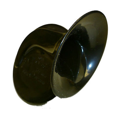 12V LOW TONE Snail / Shell Horn – BLACK - High Quality - Loud & Legal!