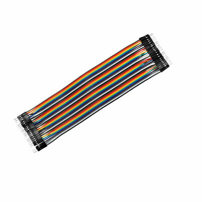 Female to Female 40P Jumper Wire 2.54mm Pitch Ribbon Cable Breadboard 100cm Long