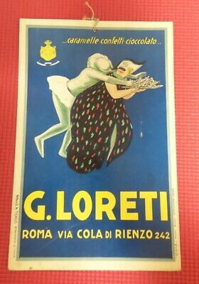 ORIGINAL ADVERTISING SIGN G Loreti Italian Italy Art Print M