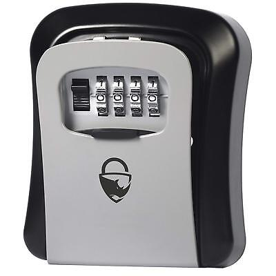 Rhino Lock Secure Key Combination Safe  Outdoor Heavy Duty Wall Mounted Security