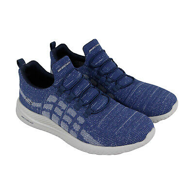 Skechers Matera Freymere Mens Blue Textile Athletic Slip On Running Shoes