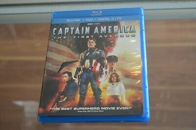 Captain America: The First Avenger (Blu-ray/DVD) FREE SHIPPING TESTED