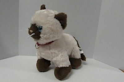 f8bad80a095 Build a Bear Promise Pets Siamese Cat Plush Kitty Red Collar