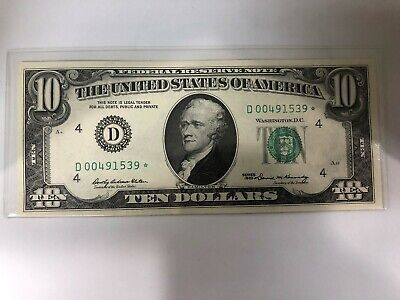 $10 Dollar 1969 Federal Reserve STAR NOTE.