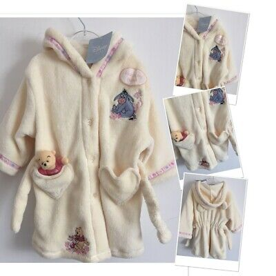 Disney Pooh Bear New Tags Baby Girls Dressing Gown 9-12 Months