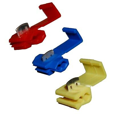 RED BLUE YELLOW Quick Splice Self Stripping Connectors Scotch Lock