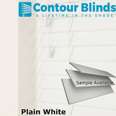 FAUX WOOD WOODEN VENETIAN BLINDS MADE TO MEASURE BLIND CHILD SAFE  35mm & 50mm