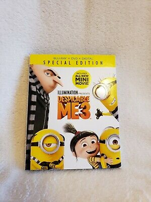 Despicable Me 3 Blu-ray DVD & digital, 2 Discs, Region Free) *NEW/SEALED*