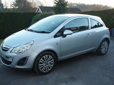 2013 13 Vauxhall Corsa 1.2 Energy A/c Silver Damage Repairable Salvage