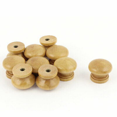Drawer Cabinet Closet Wood Round Knob Pull Handle 23x19mm 10pcs