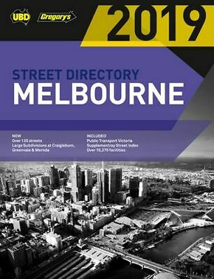 NEW Melbourne Street Directory 2019  By UBD Gregory's Paperback Free Shipping