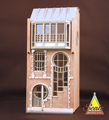 LUNAR HOUSE Quarter 1:48th Scale Laser-cut KIT Model Miniature DollHouse