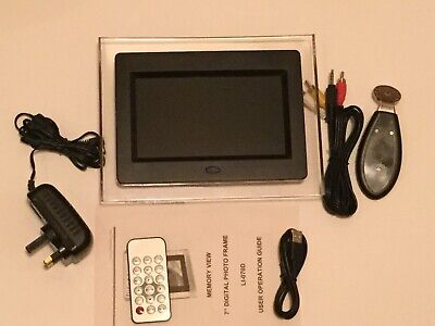 Living Images  7ins Digital Photo Frame w/ Remote Control - Boxed